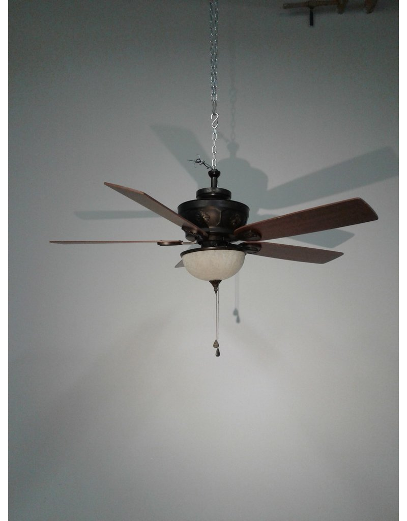 """Woodbridge Brown 48"""" Ceiling Fan with Dome Light"""