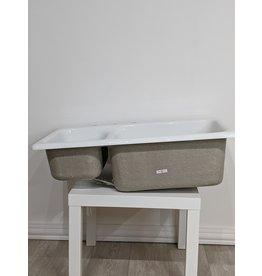 Newmarket White Fibre Glass Kitchen Sink