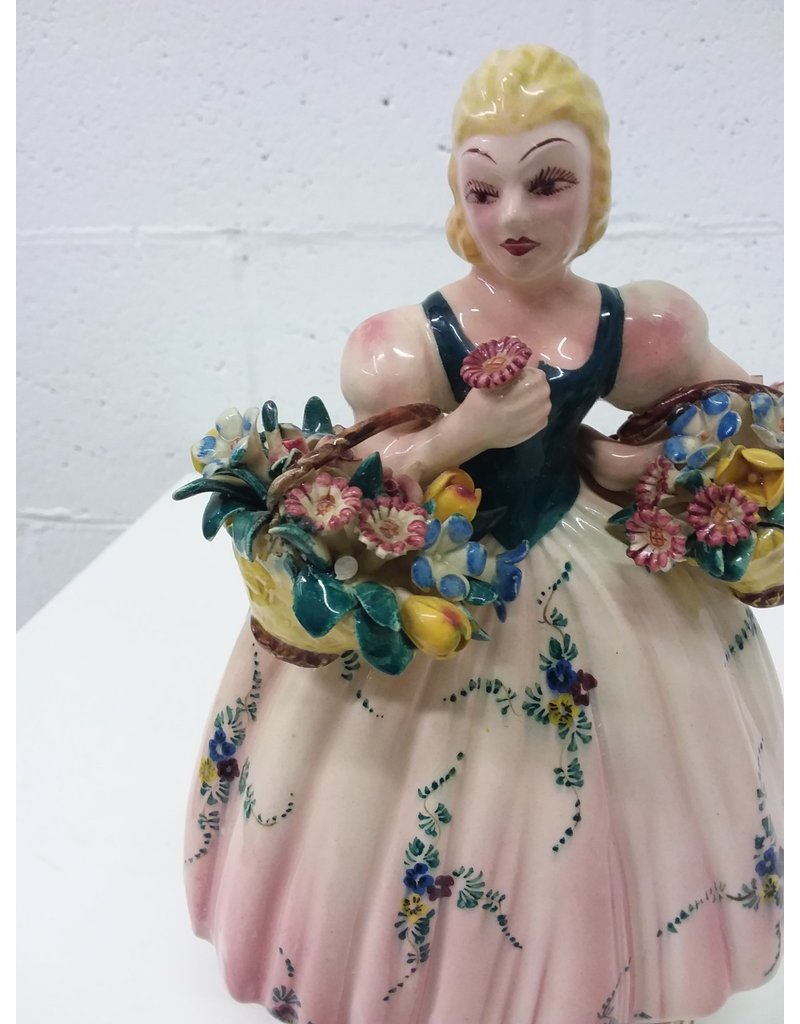 North York Porcelain female figure with flowers