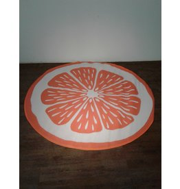 Woodbridge 6 1/2 ft. Round Orange & White carpet Mat