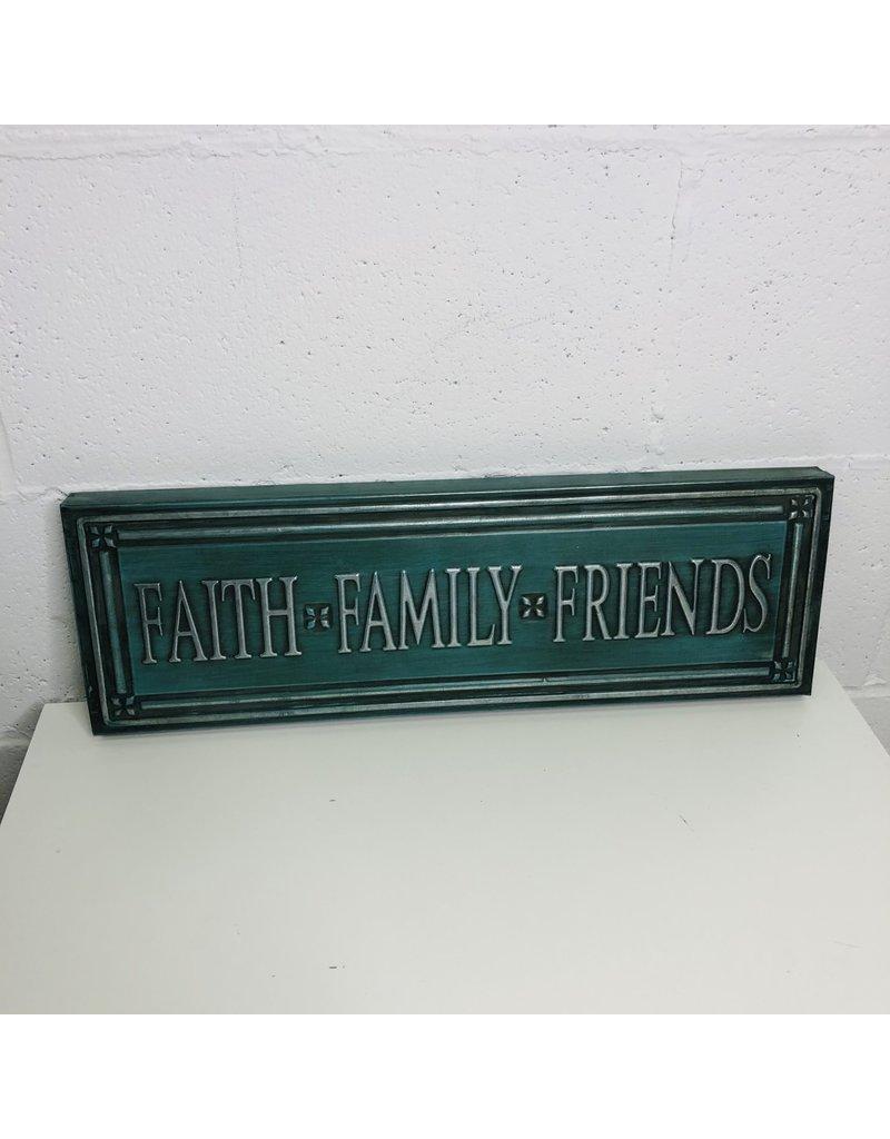 North York Blue Faith Family Friends Sign