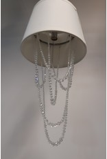 Etobicoke Ceiling Light with White Cloth Shade