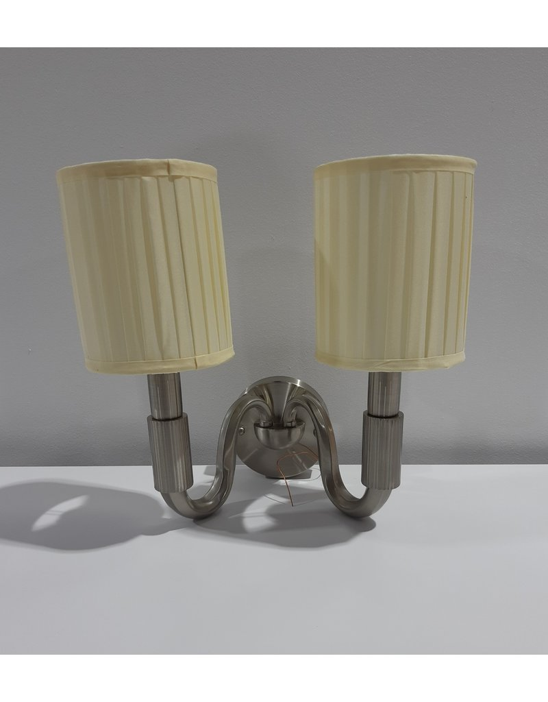 Wall Mounted Light Fixture With 2 Cloth Shade In White Habitat For Humanity Restore