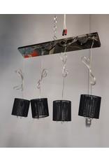 Etobicoke Ceiling Light with 4 Black Cloth Shade