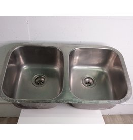 """North York Stainless steel Double Sink 32 1/2"""""""