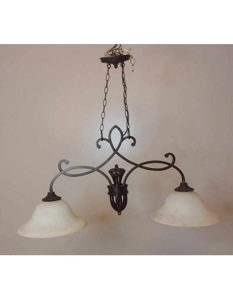 Vaughan Dark brown 2 light chandelier