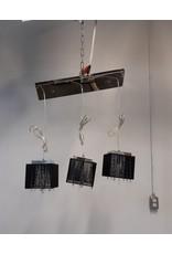 Etobicoke Ceiling Light with 3 Black Cloth Shade
