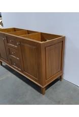 "Etobicoke 60""  2 Sink Vanity Cabinet in Brown"