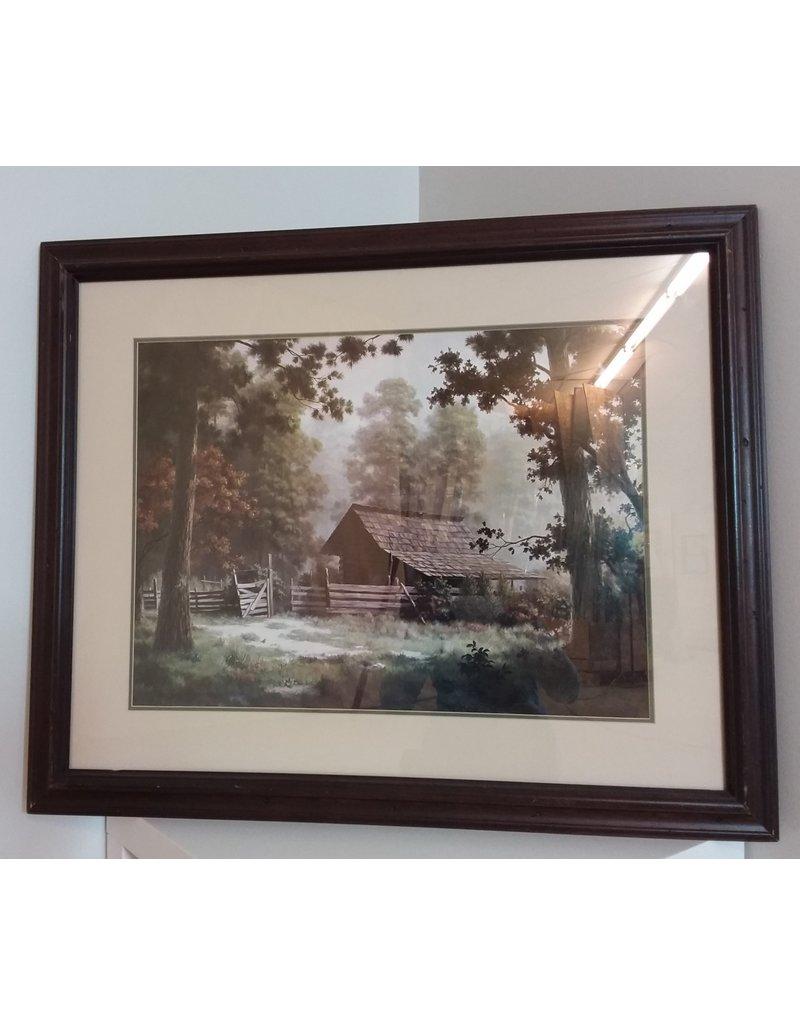 Vaughan Framed Cabin Forest Landscape