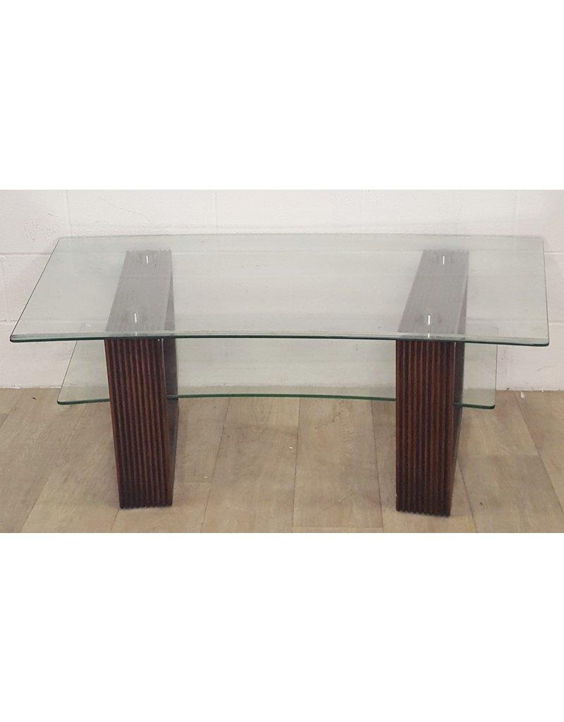 East York Glass coffee table with lower shelf