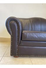 Etobicoke Black Leather Sofa