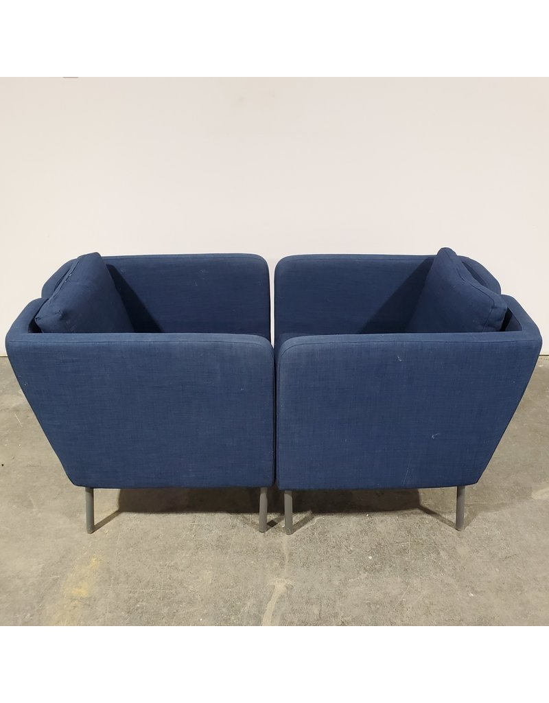 Etobicoke 2 Blue Fabric Armchair