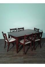 Woodbridge Deep Brown Dining Set with Six Chairs