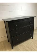 North York Black 3-Drawer Dresser