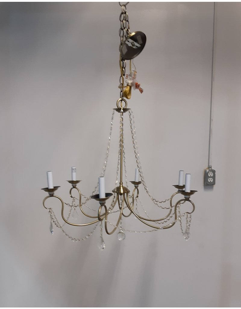 Etobicoke 6 Light Chandelier, With Clear Crystal