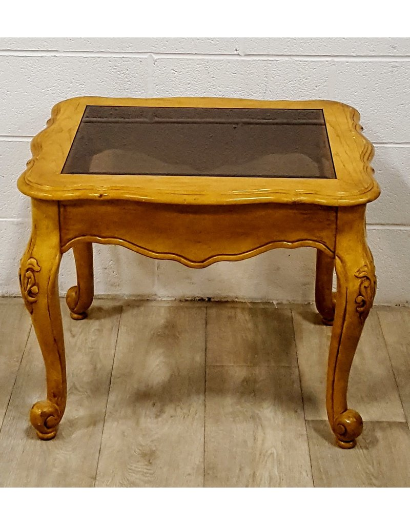 East York Glass inlaid side table