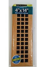 "East York 4"" x 14"" Wood floor register"