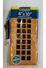 "East York 4"" x 10"" Wood floor register"