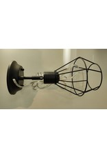 Woodbridge 1-Light Plug-in or Hardwire Industrial Cage Wall Sconce