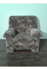 Woodbridge Brown Patterned Armchair