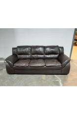 Etobicoke Dark Brown Leather Sofa