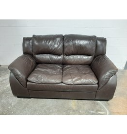 Etobicoke Dark Brown Leather Sofa