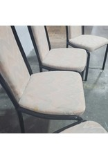 Etobicoke 4 Metal and Fabric Dining Chairs