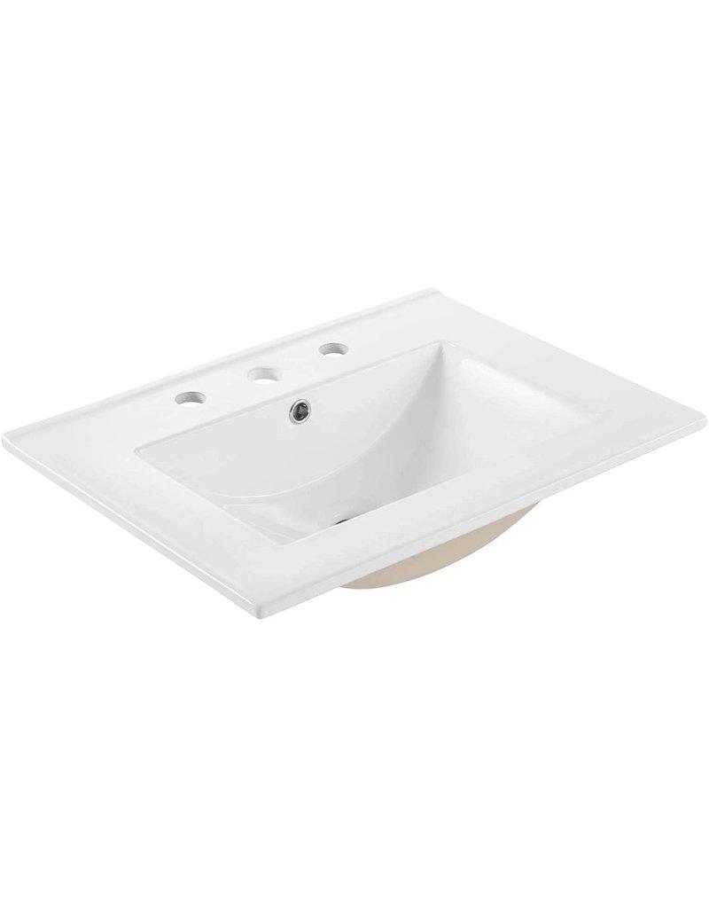 "Studio District Bathroom Sink Modway EEI-3766-WHI Cayman 24"" Bathroom Sink, White"