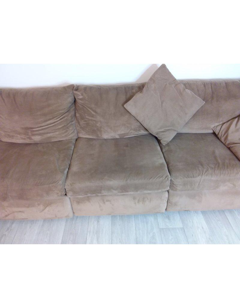 Vaughan 3 Piece Faux Suede Tan Sofa