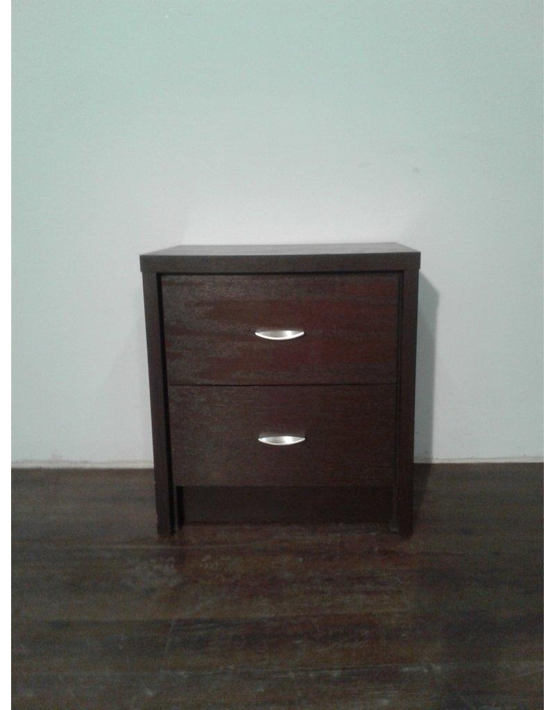 Woodbridge Deep Brown Two Drawer Bedside Table