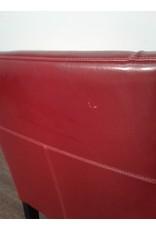 Woodbridge Deep Red Leather Chair
