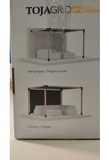 Woodbridge Canvas for Toja Grid Pergolas - 8' x 10' - Graphite Mesh