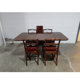 Etobicoke Mahogany Dining Table and 4 Chairs