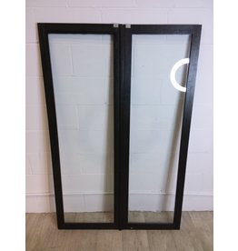 North York Dark Green Glass Cabinet Door Set
