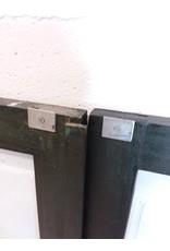 North York Dark Green Glass Cabinet Door Set