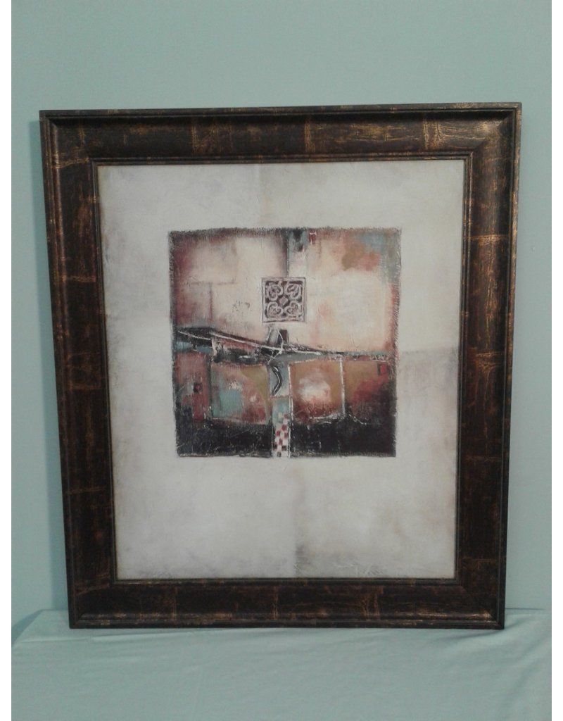 Woodbridge Abstract Cube Shapes Framed Photo on Canvas