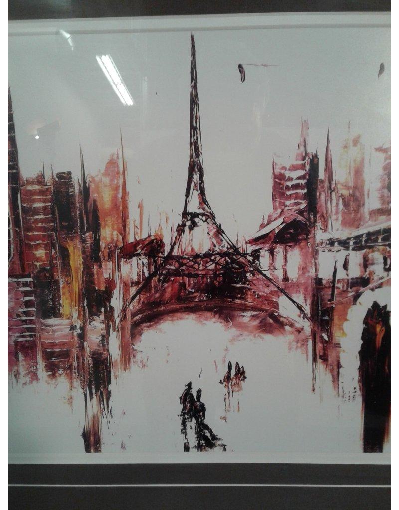 Woodbridge Abstract Paris Cityscape Framed Print