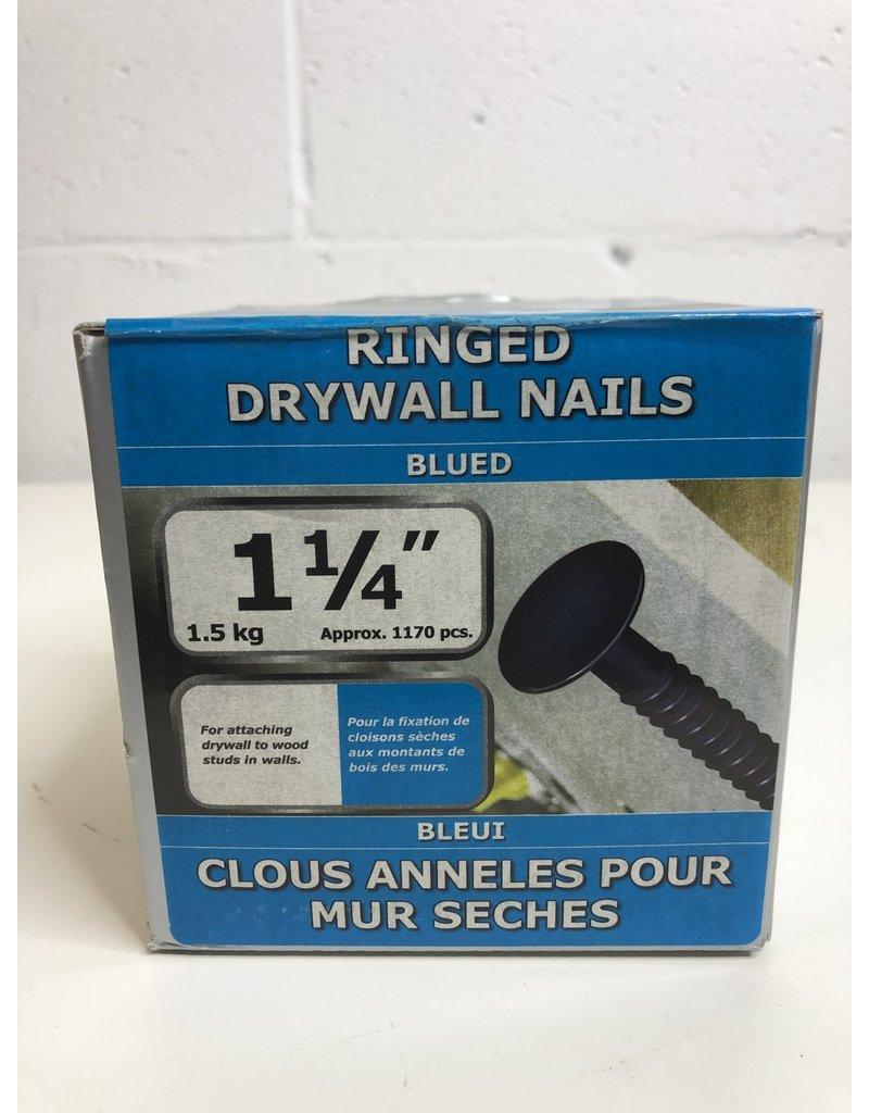 """North York 1-1/4"""" Ringed Drywall Nails"""