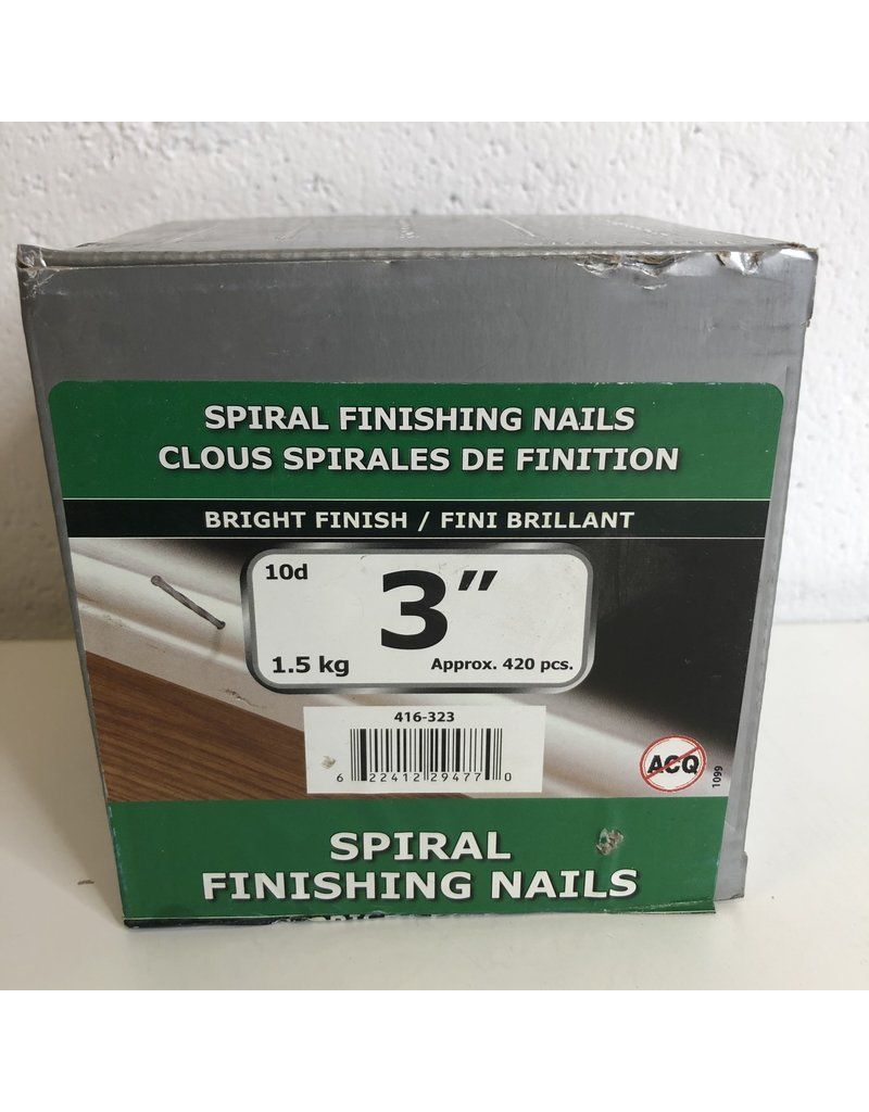 "North York 3"" Finishing Nails"