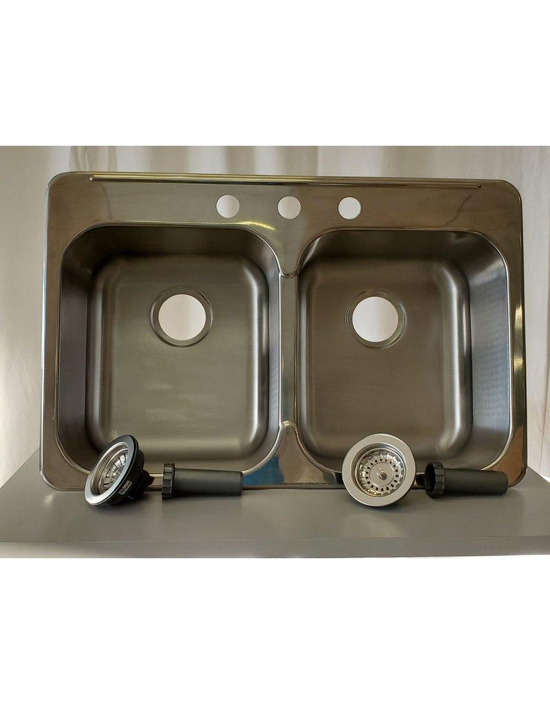 Scarborough Blanco Double Sink