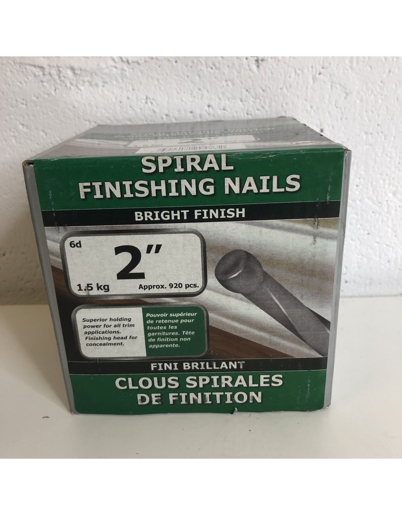 "North York 2"" Spiral Finishing Nails"