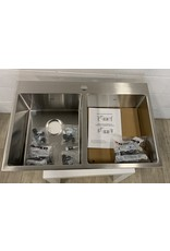 East York Dual Mount Stainless Steel Double Basin Kitchen Sink