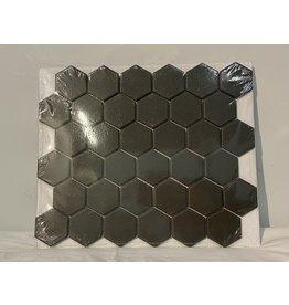 Woodbridge Charcoal Hexagon Porcelain Mosaic Tile