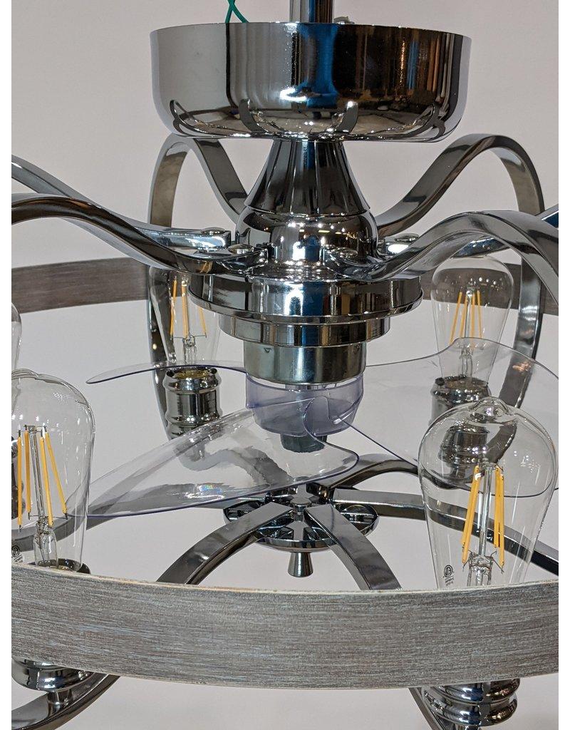 Newmarket 6 bulb Chandelier with Fan