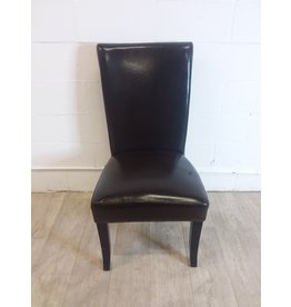 North York Leather Dining Chair with Hole