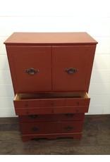 Uxbridge Red Coloured Wood Armoire