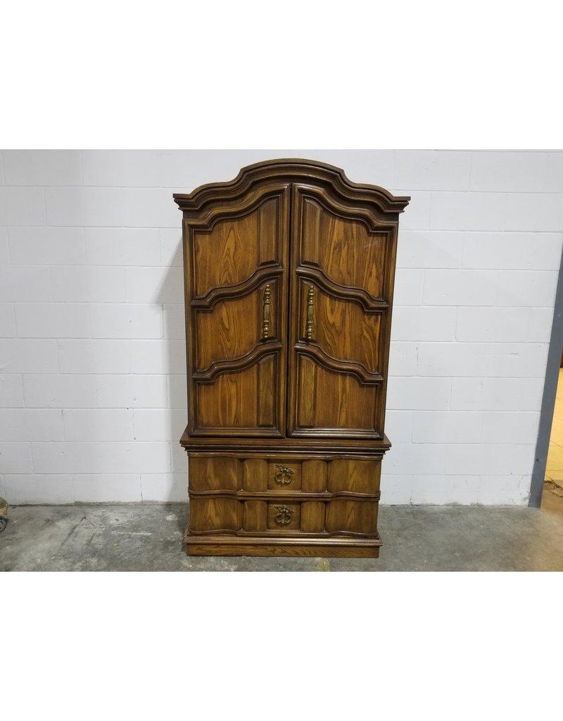 Etobicoke Brown Woodgrain Wardrobe