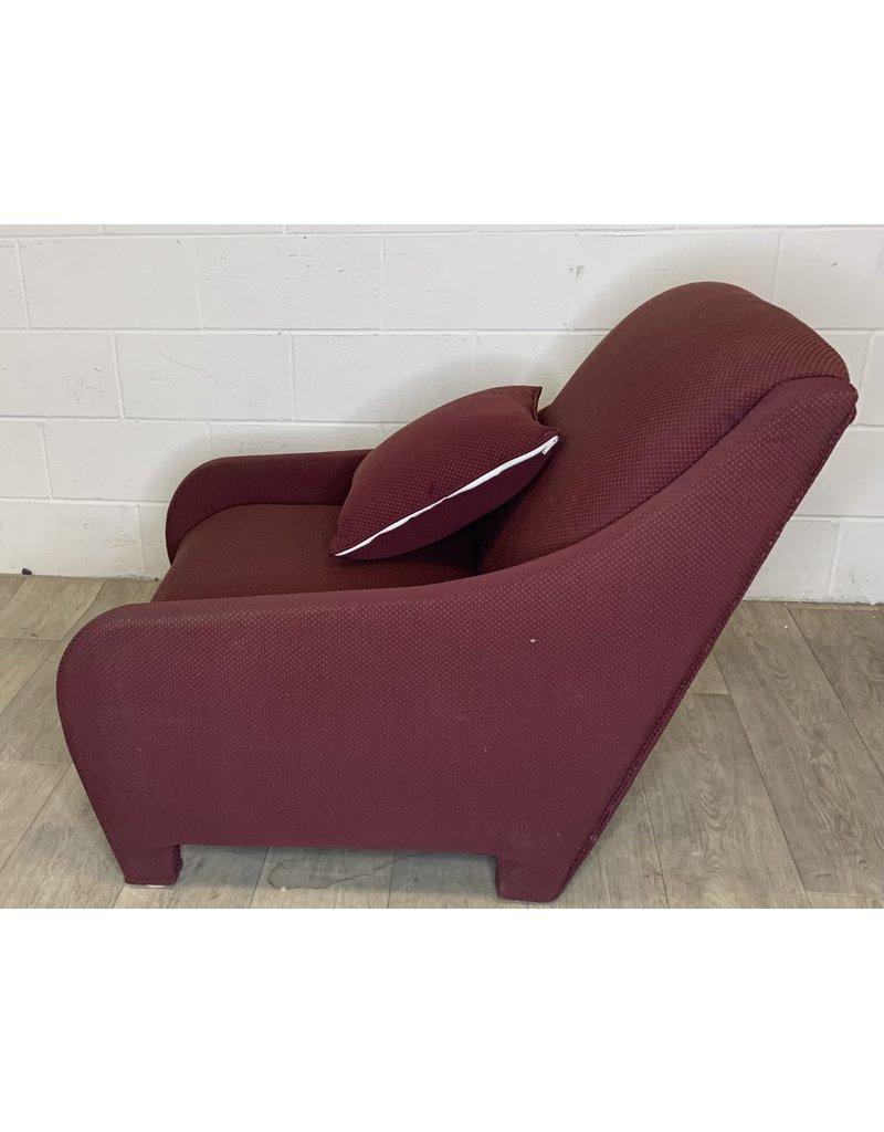 East York Burgundy Cloth Arm Chair