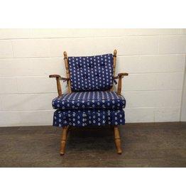 Uxbridge Blue Paisley Upholstered Rocking Chair
