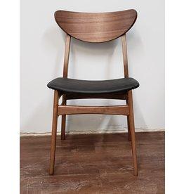 Woodbridge Black Naugahyde with Walnut Chair